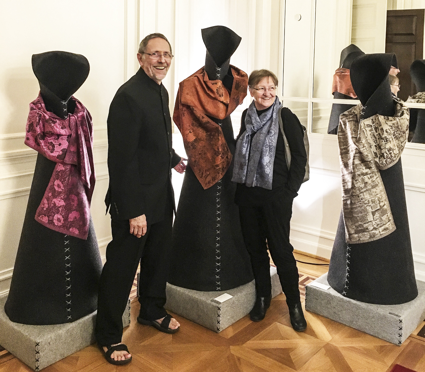 Luxembourg Artists exhibit works woven on the TC2!