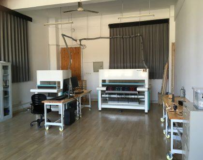 TC2 loom setup in room