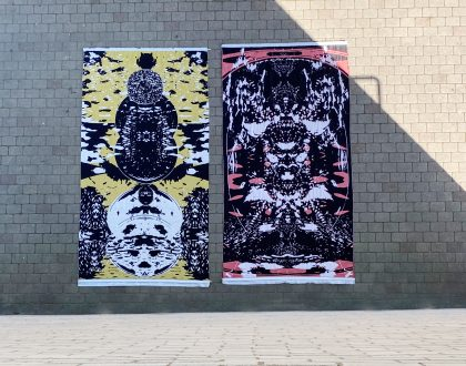 Emma's woven works depict brain frequencies
