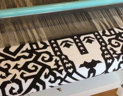 Digital jacquard woven works by Søren Krag...